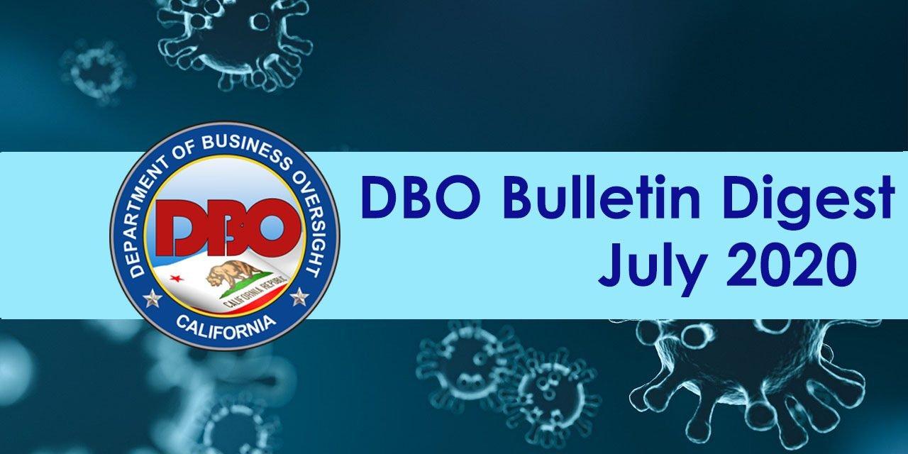 DBO Bulletin Digest July 2020
