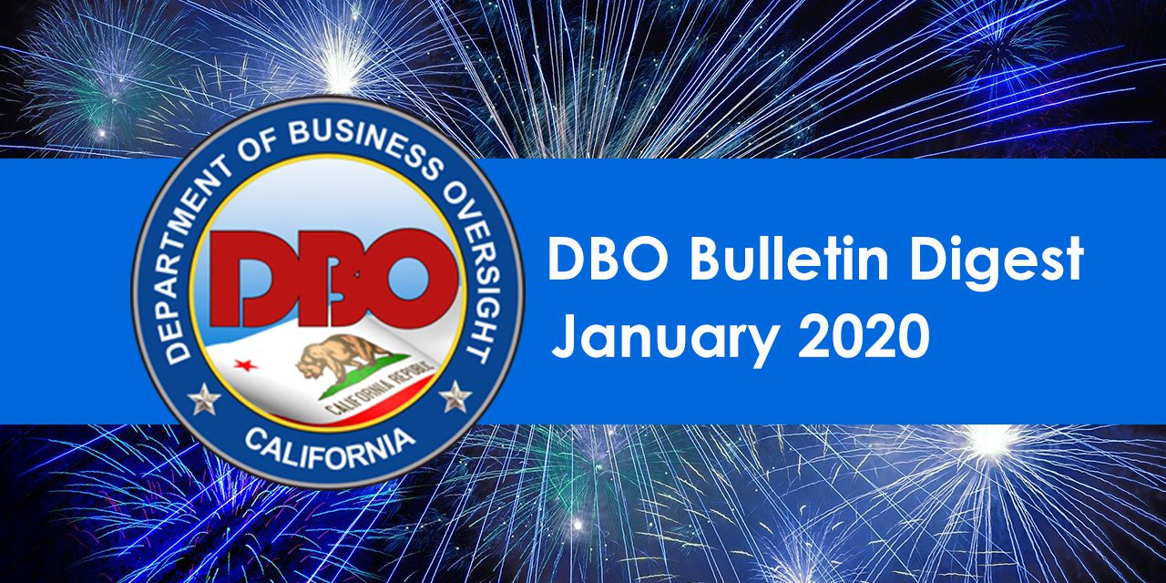 DBO Bulletin Digest January 2020