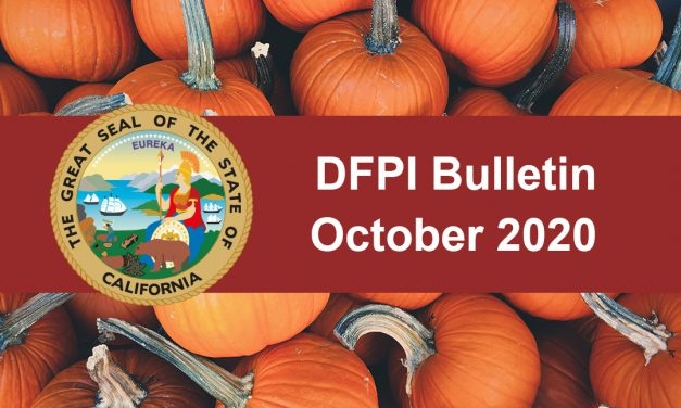 DFPI Monthly Bulletin: October 2020