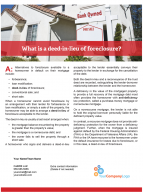 Client Q&A: What is a deed-in-lieu of foreclosure?