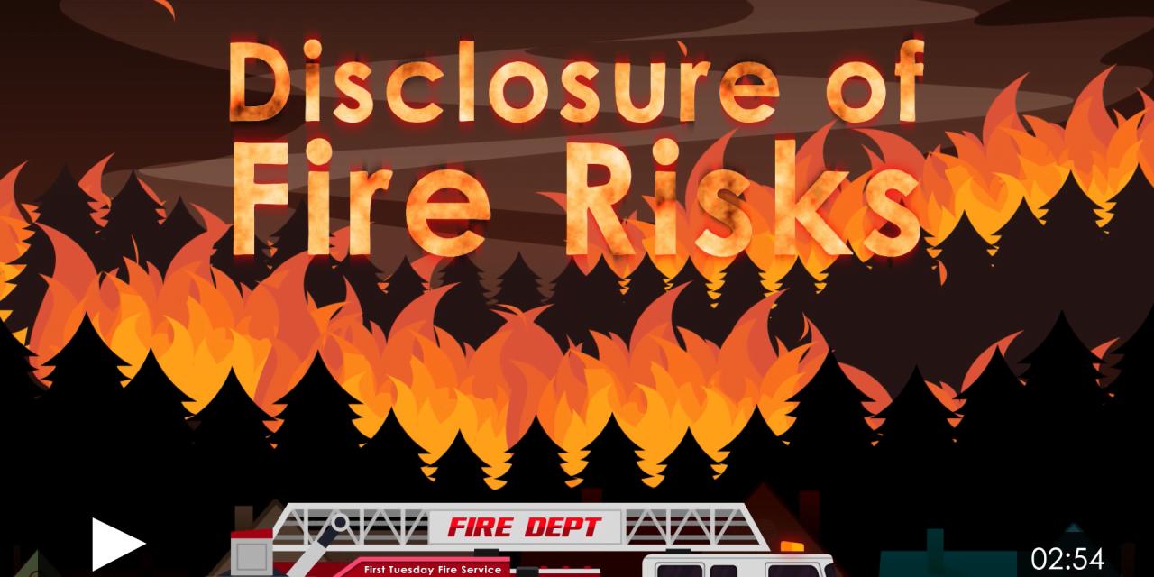 Disclosure of Fire Risks