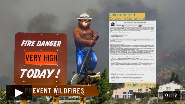 Disclosure of Very High Fire Hazard Severity Zones