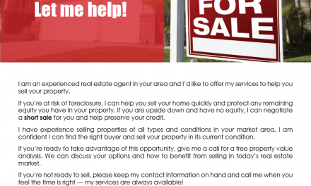 FARM: Are you at risk of foreclosure? Let me help!