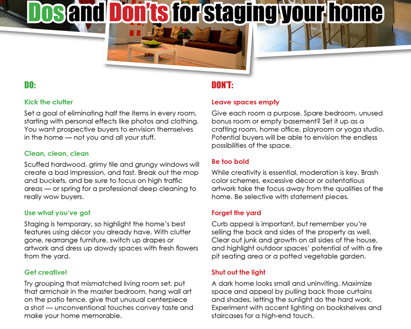 FARM: Dos and don'ts for staging your home