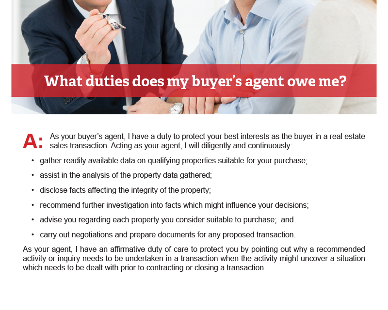 Client Q&A: What duties does my buyer's agent owe me?