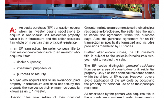 Client Q&A: What is an equity purchase transaction?
