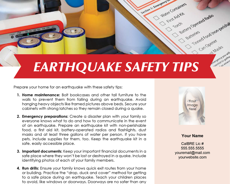 FARM: Earthquake safety tips