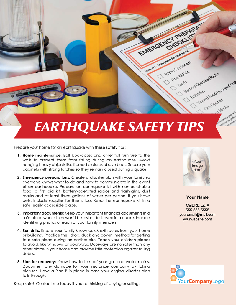 Earthquake-safety