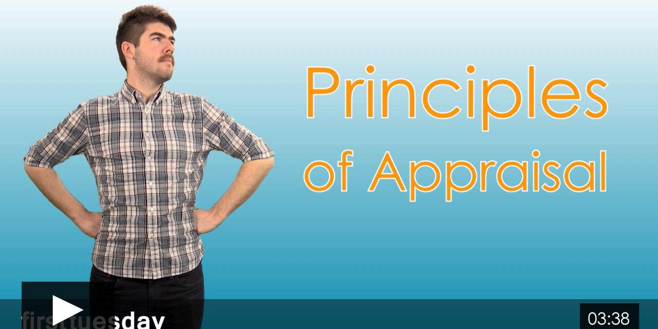 Economic Principles in Appraisal, Part I