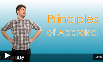 Economic Principles of Appraisal, Part I