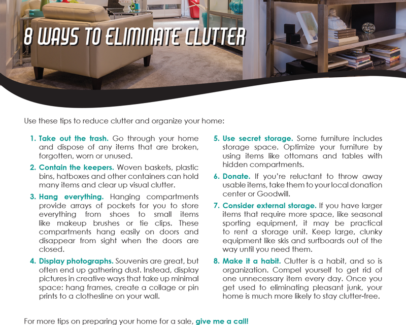 FARM: 8 ways to eliminate clutter