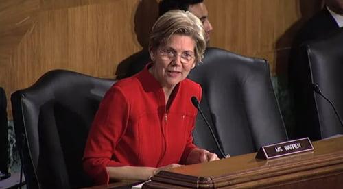 Senator Warren at Banking Committee Hearing