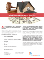Client Q&A: What are encumbrances on title?