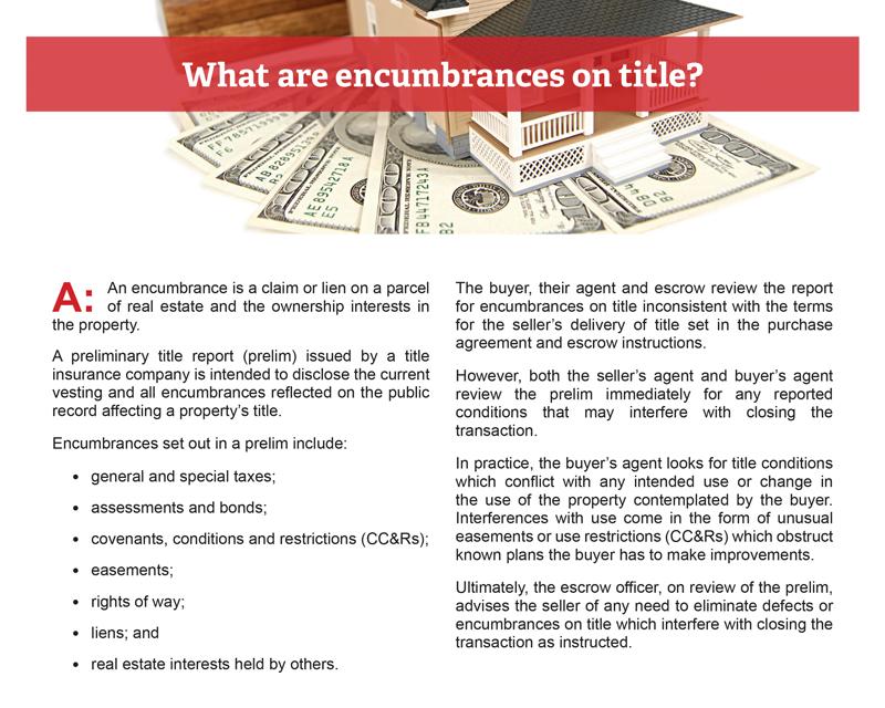 Client Q&A: What are encumbrances on title?