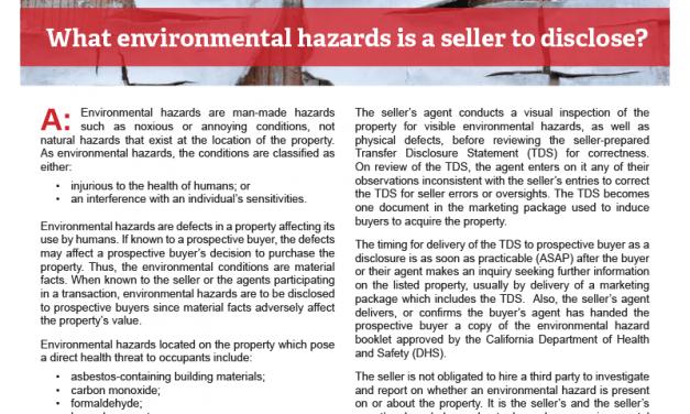 Client Q&A: Environmental hazards