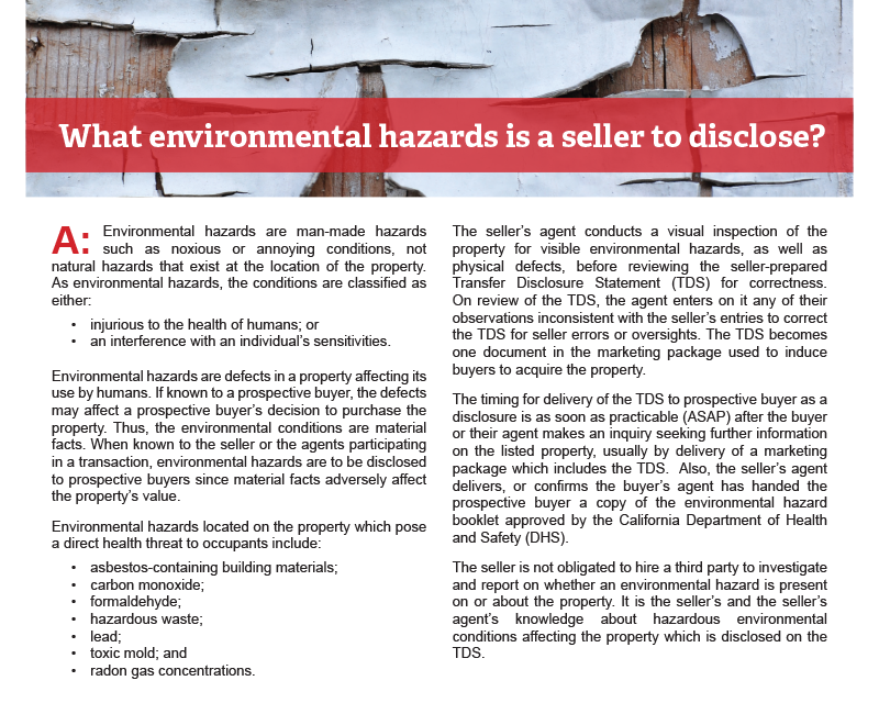 Client Q&A: Environmental hazards