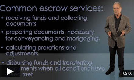 Escrow Companies and Escrow Officers