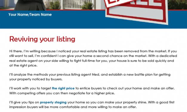 FARM: Reviving your listing