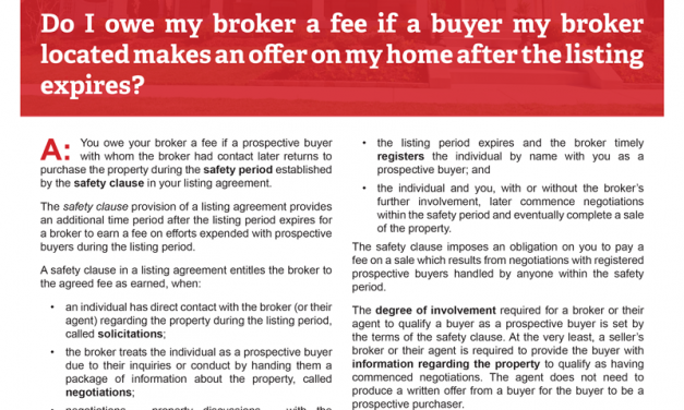 Client Q&A: Do I owe a fee if a buyer my broker located makes an offer after the listing expires?
