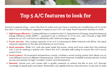 FARM: Top 5 A/C features to look for