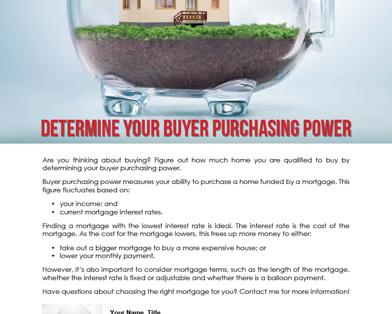 FARM: Determine your buyer purchasing power