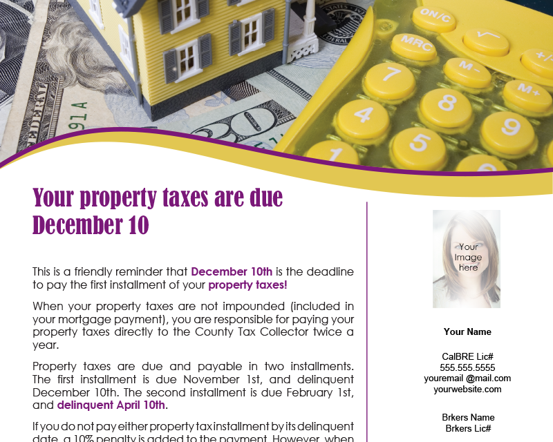 FARM: Your property taxes are due December 10