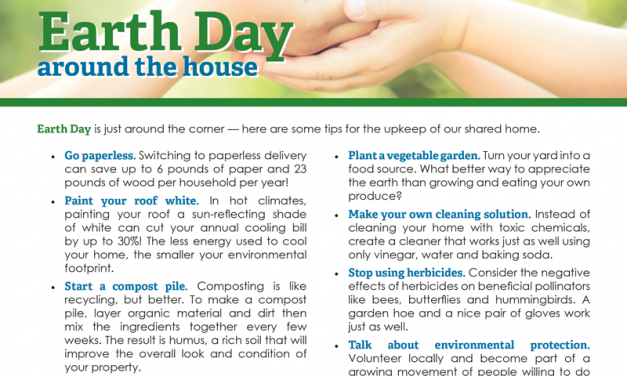 FARM: Earth Day around the house