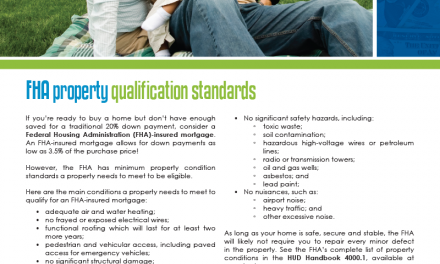 FARM: FHA property qualification standards