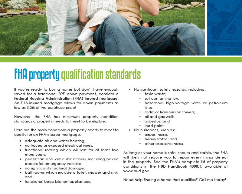 FARM: FHA property qualification standards