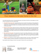 FARM: Four reasons to list your home in the fall