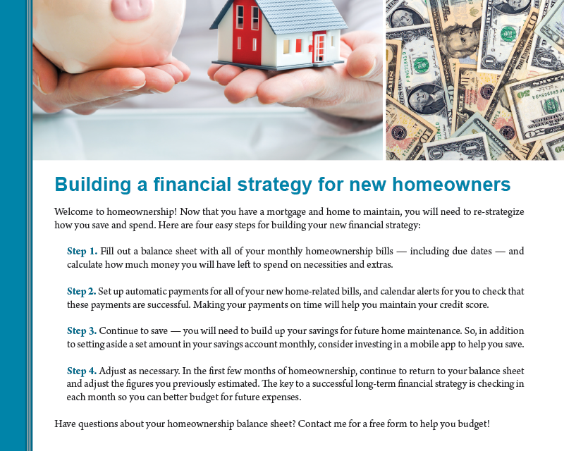 FARM: Building a financial strategy for new homeowners
