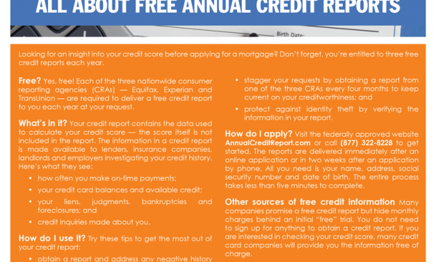 FARM: All about free annual credit reports