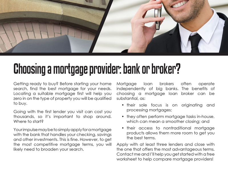 FARM: Choosing a mortgage provider: bank or broker?