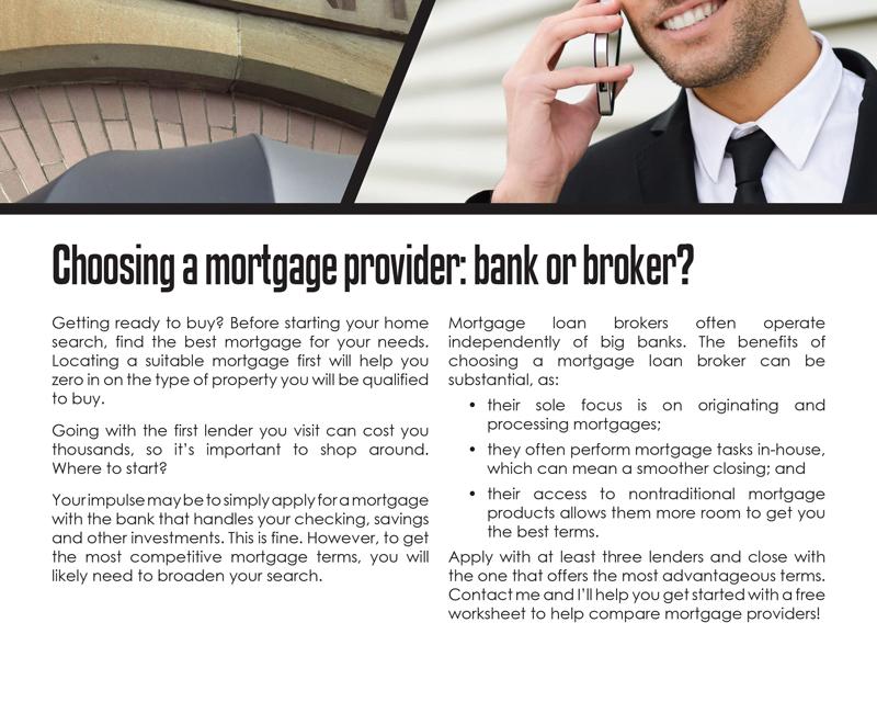FARM: Choosing a mortgage provider: bank or broker?