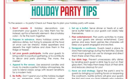 FARM: Holiday party tips