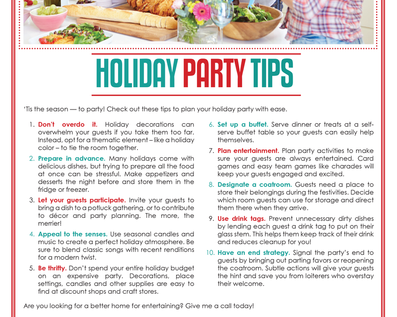 FARM: Holiday party tips