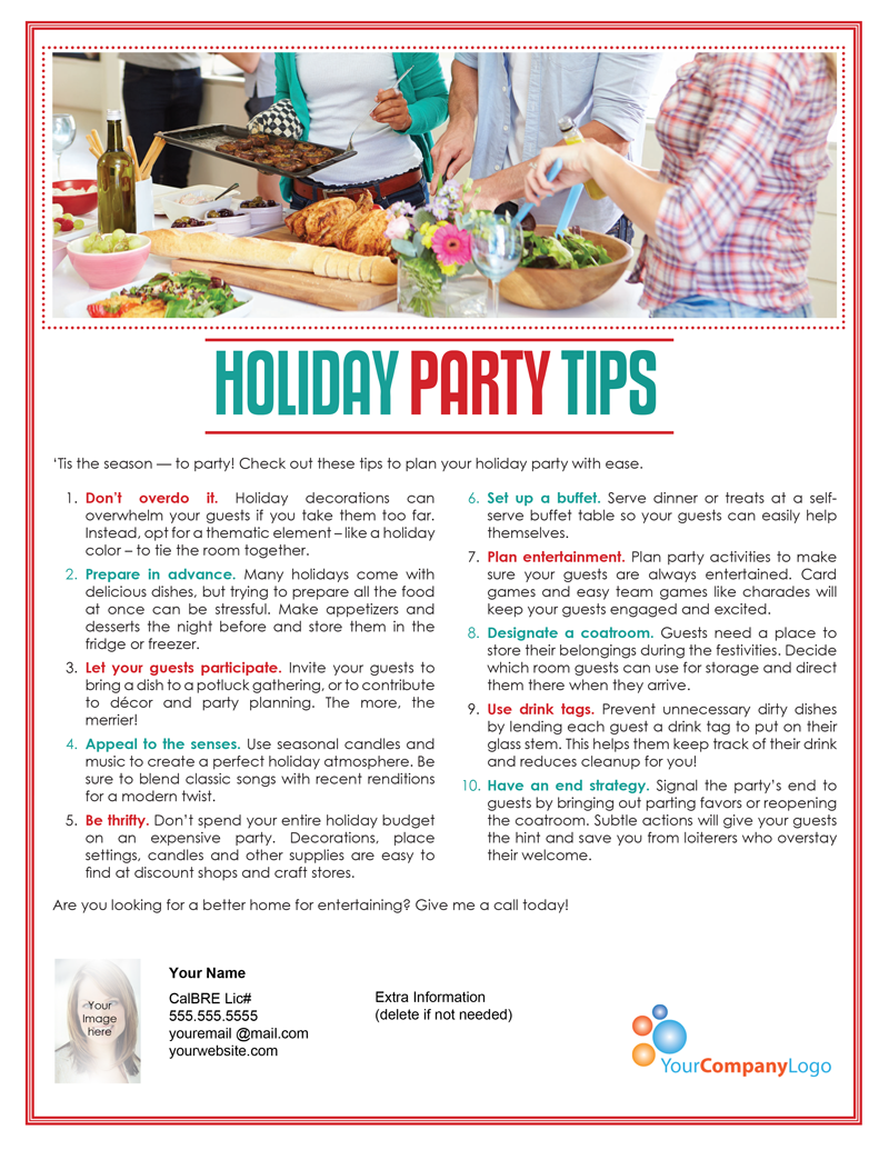 Farm Holiday Party Tips  First Tuesday Journal