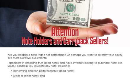 FARM: Attention  Note Holders and Carryback Sellers!