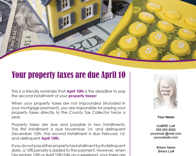 FARM: Your property taxes are due April 10