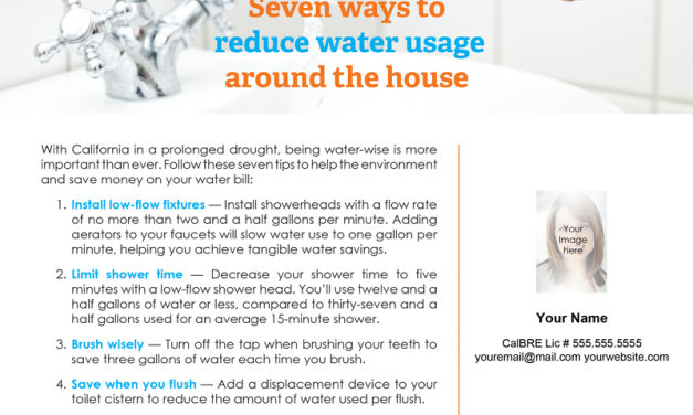 FARM: Seven ways to reduce water usage around the house