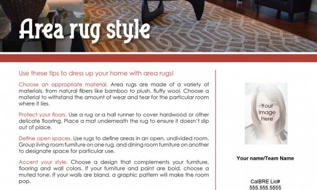 FARM: Area rug style