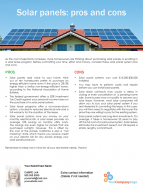 FARM: Solar panels: pros and cons