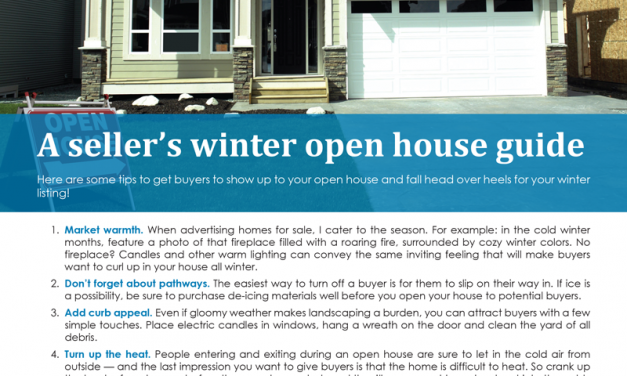 FARM: A seller's winter open house guide