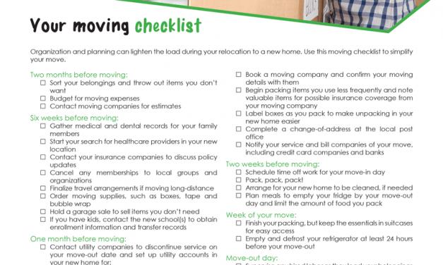 FARM: Your moving checklist