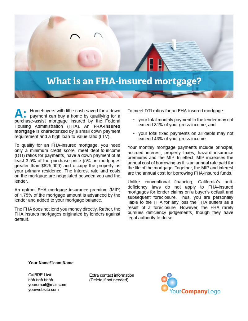 FHA-insured-Mortgage