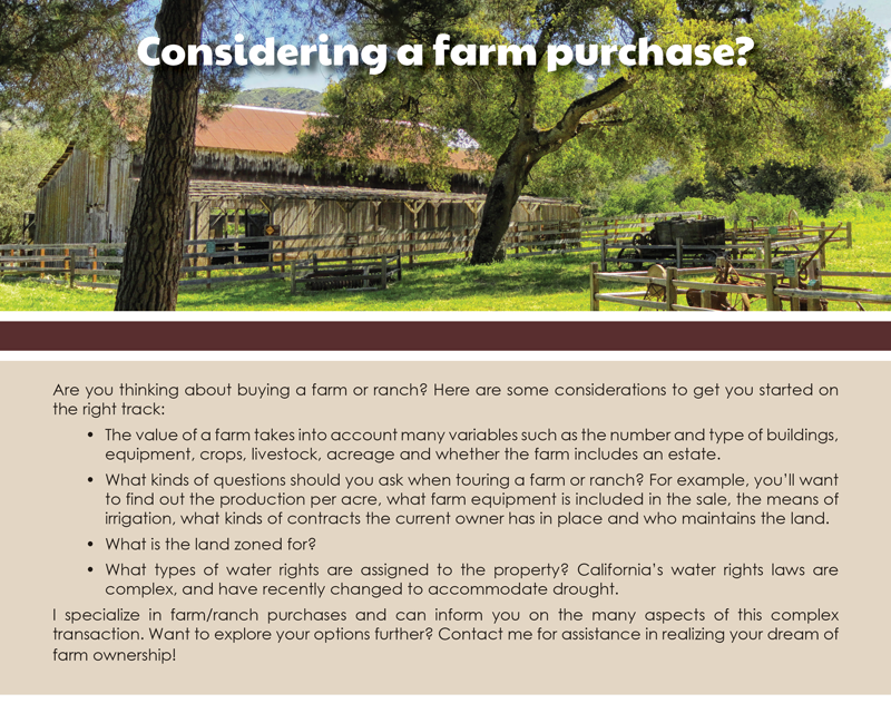 FARM: Considering a farm purchase?