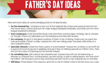 FARM: Father's Day Ideas