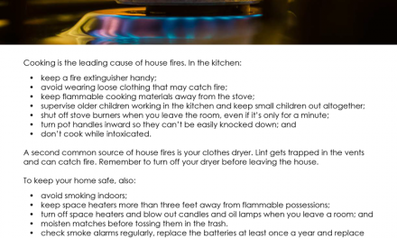 FARM: Avoid fire danger in your home