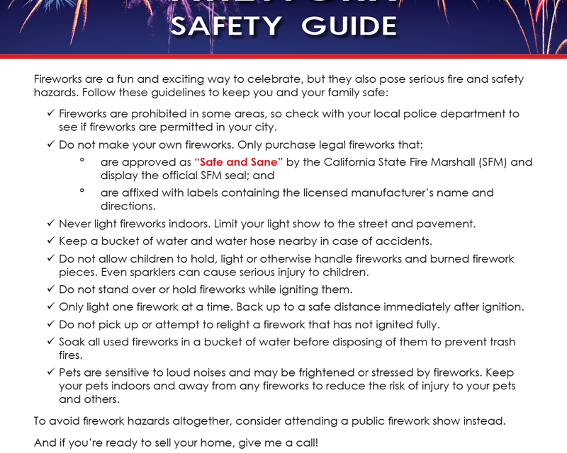 FARM: Firework safety guide