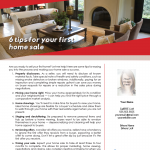 Tips for your first home sale